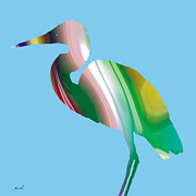 Great Digital Art - Great Egret Rainbow by Marsha Charlebois