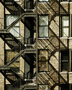 Nyc Fire Escapes Photos - Great Escapes I by Rose  Fleming
