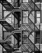 New York City Fire Escapes Photos - Great Escapes II by Rose  Fleming