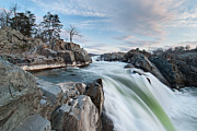 Virginia Landscape Posters - Great Falls on the Potomac River Poster by Mark VanDyke