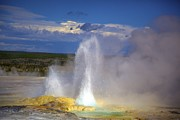 Terry Horstman Framed Prints - Great Fountain Geyser Framed Print by Terry Horstman