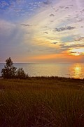 Lake Superior - Great Lake Great Sunset by Michelle Calkins