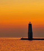 Lakes Posters - Great Lakes Lighthouse Poster by Terri Gostola