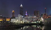 David Yunker Prints - Great Lakes Science Center Cleveland Skyline Print by David Yunker
