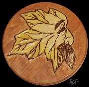 Wedding Pyrography Prints - Great Leaf Print by Brandon Baker ArtZen