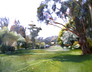 Great Painting Originals - Great Meadow Golden Gate Park by Suzanne Giuriati-Cerny