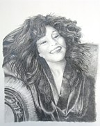 Graphite Portraits Prints - Great Morning Print by Joette Snyder