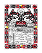 Raven Drawings Originals - Great Northern Medicine by Louis McCollum