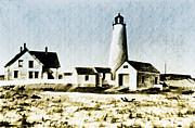 Great Point Lighthouse Nantucket Print by Bill Cannon