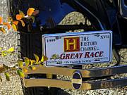 History Channel Framed Prints - Great Race Car Tag Framed Print by Linda Phelps
