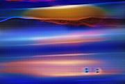 Steve Ohlsen - Great Salt Lake Antelope Island Utah 4 - Fractal