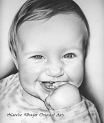 Birthday Gift Drawings - Great Smile by Natasha Denger