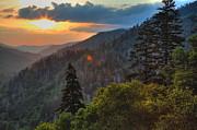Gatlinburg Tennessee Prints - Great Smoky Mountain Sunset Print by Coby Cooper