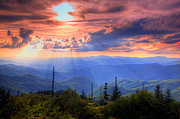 Landscape Tapestries Textiles Prints - Great Smoky Mountains  Print by Doug McPherson