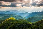 Sunbeams Prints - Great Smoky Mountains National Park NC Western North Carolina Print by Dave Allen
