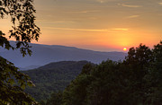 Gatlinburg Tennessee Posters - Great Smoky Sunset Poster by Coby Cooper