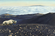 Mauna Kea Painting Prints - Great Spirit Print by Sarah Soward