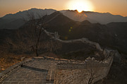 China Framed Prints - Great Wall Badaling Framed Print by Aaron S Bedell