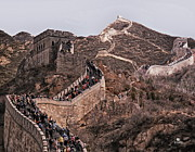 Great Wall Posters - Great Wall In China Poster by Russ Harris