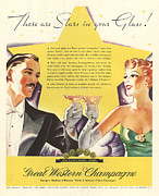 Featured Art - Great Western 1930s Usa Champagne by The Advertising Archives
