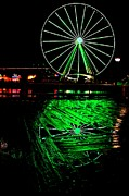 St. Patrick Posters - Great Wheel Pier Reflection Poster by Benjamin Yeager