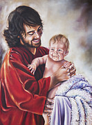 Child Jesus Painting Originals - Greatest in the Kingdom by Ilse Kleyn