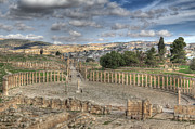 Canon Framed Prints - Greco-Roman city of Jerash in Jordan Framed Print by Ash Sharesomephotos