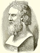 Portrait Drawings - Greek Bust of Plato by English School