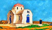 Greek Church 4a Print by George Rossidis