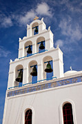 Greek Church Bells Print by Brian Jannsen