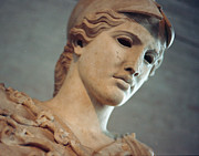 Greek Sculpture Metal Prints - Greek Face Metal Print by Marcio Faustino