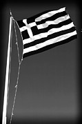 Athens Prints - Greek Flag Print by John Rizzuto