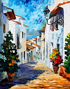 Palette Knife Painting Originals - Greek Mood new by Leonid Afremov