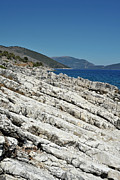 Postcards Art - Greek Rocks by Karl Wilson