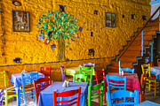 Wine Holder Metal Prints - Greek Taverna Metal Print by Eleni Mac Synodinos