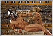 Young Man Photo Originals - Greek Warrior FNT 387 by Norberto Torriente