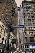 Nyc Digital Art Posters - Greeley Square Poster by Ryan Crane