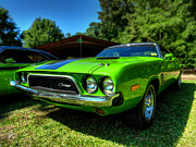 Mopar Metal Prints - Green 72 Dodge Challenger Rallye 001 Metal Print by Lance Vaughn