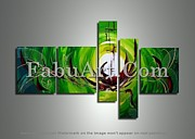 FabuArt - Green Abstract Art...