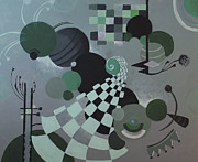 Sara Coolidge - Green Abstract