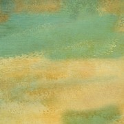 Green And Beige Texture Print by Becky Hayes