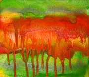 Julia Fine Art - Green and Orange Abstract