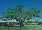 Green Grass Pastels Originals - Green and Pleasant Land by Richard Laycock
