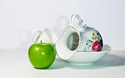 Cecil Fuselier - Green Apple and Porcelain