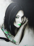 Tattooed People Posters - Green Ascension Poster by Christian Chapman Art