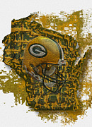 Helmet Digital Art - Green Bay Packers by Jack Zulli