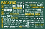 Green  Prints - Green Bay Packers Print by Jaime Friedman