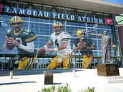 Lambeau Field Metal Prints - Green Bay Packers Lambeau Field Metal Print by Joe Hamilton