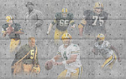 Green Bay Prints - Green Bay Packers Legends Print by Joe Hamilton