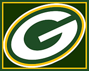 Icon  Mixed Media Originals - Green Bay Packers by Tony Rubino